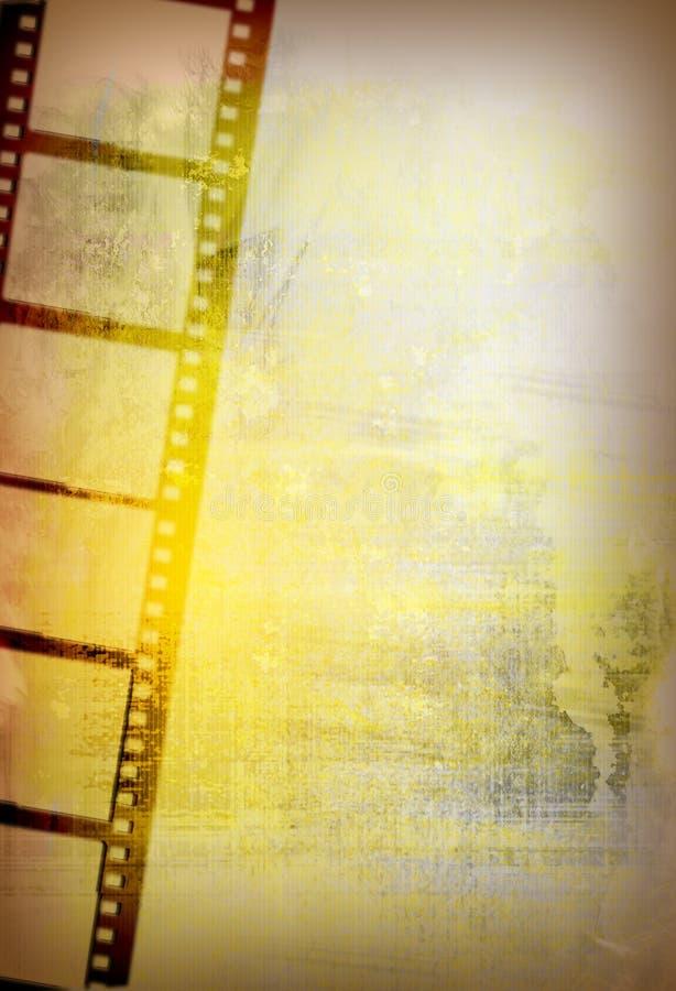 背景影片grunge主街上 向量例证