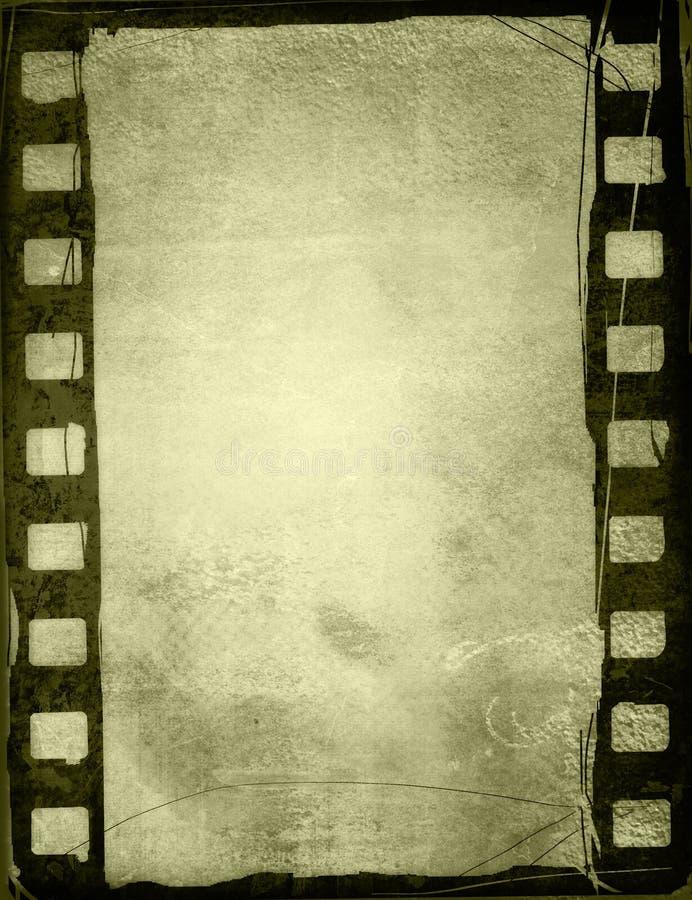 背景影片grunge主街上 库存例证