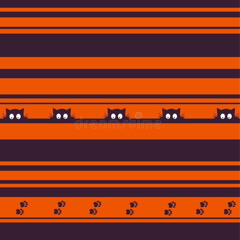 背景愉快的万圣节 无缝的模式 也corel凹道例证向量 无缝的样式的汇集在传统假日colo的 向量例证