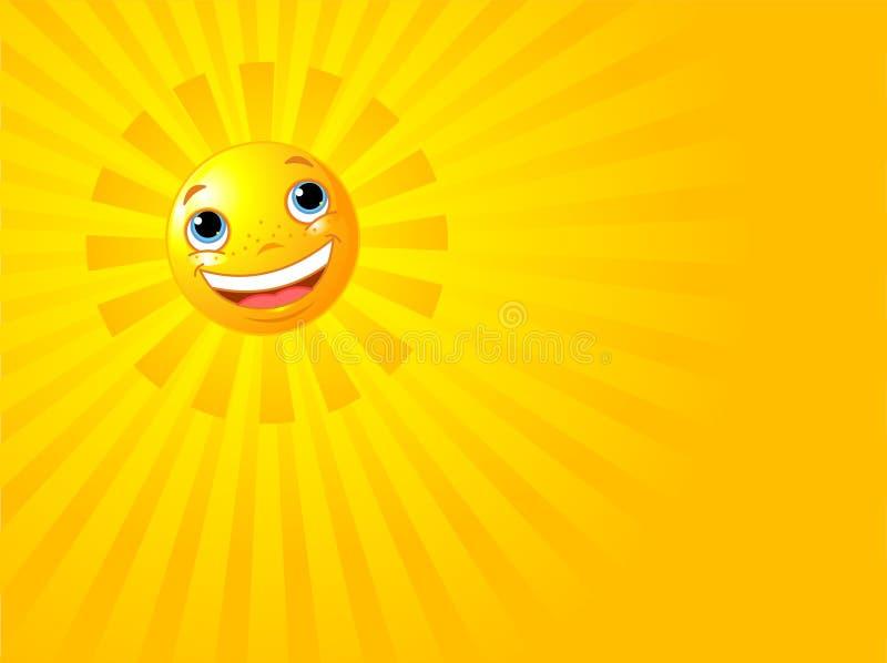 背景愉快的微笑的夏天星期日 库存例证
