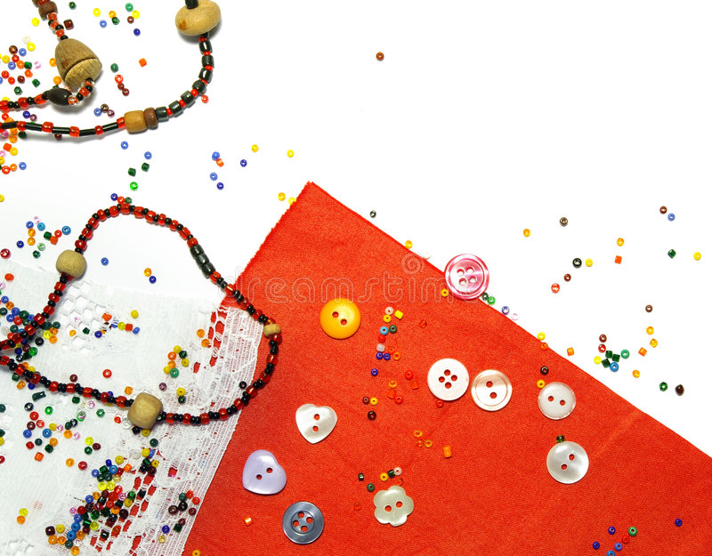 背景成串珠状五颜六色的织品 免版税库存图片