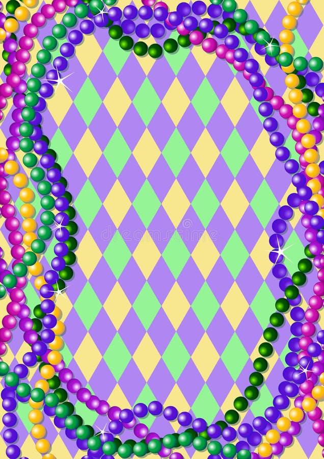 背景成串珠状gras mardi 皇族释放例证