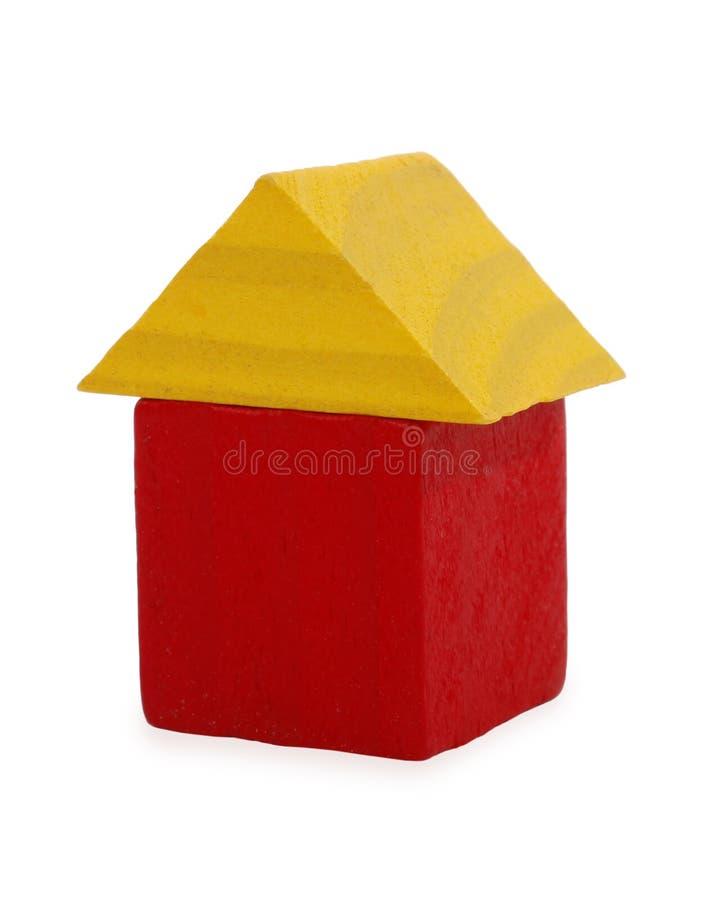 背景房子查出的玩具空白木 库存照片