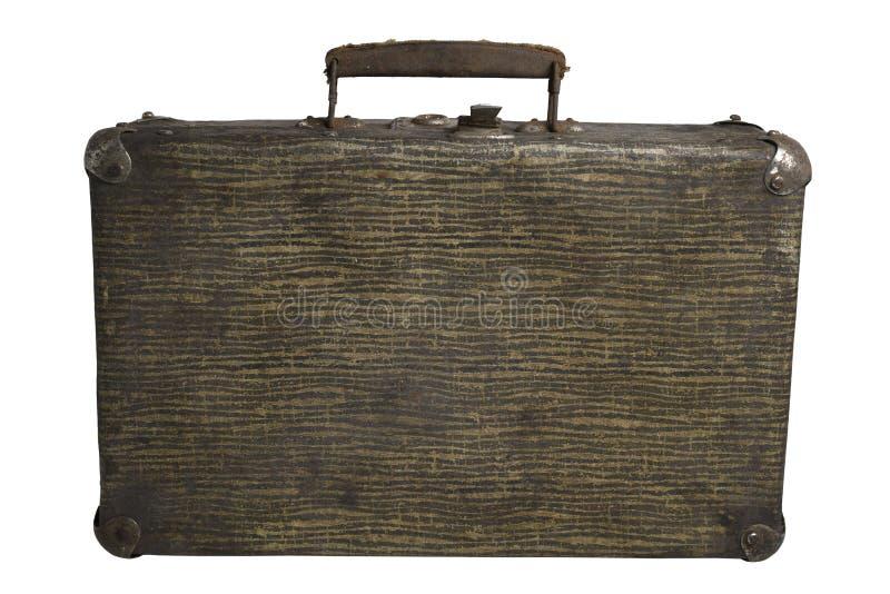 背景手提箱葡萄酒白色 免版税图库摄影
