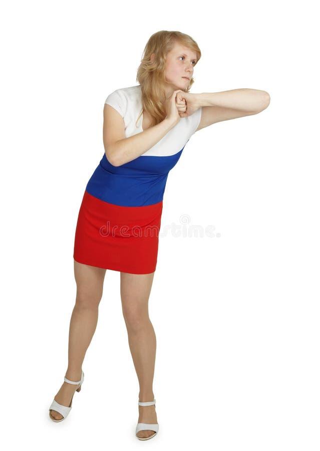 背景打手肘白人妇女年轻人 图库摄影