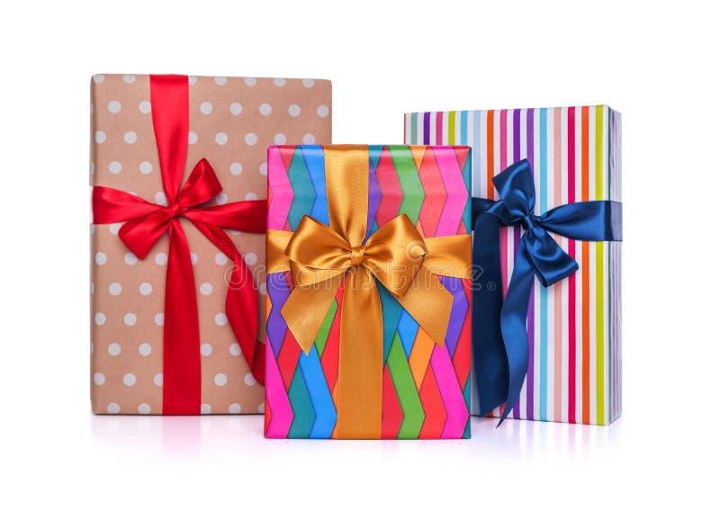 背景把礼品例证向量白色装箱 特写镜头 免版税库存照片