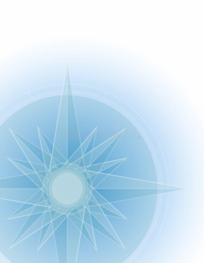 背景指南针符号 皇族释放例证