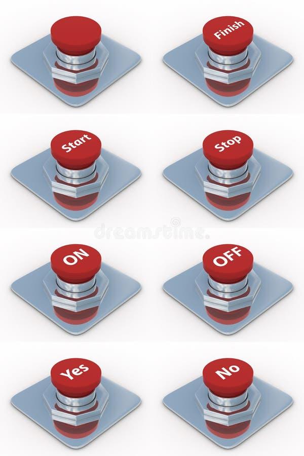 背景按红色集合白色 库存例证