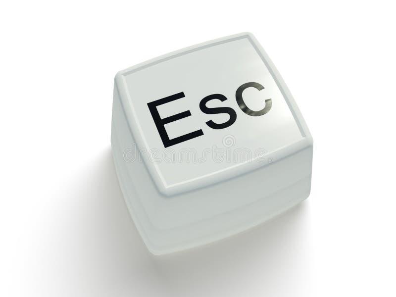 背景按钮换码白色 皇族释放例证
