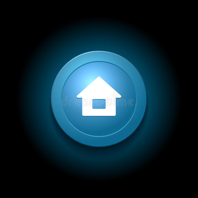 背景按钮概念性家庭墙纸 现代光滑的蓝色设计 向量 皇族释放例证