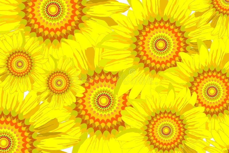 背景接近的向日葵 库存图片