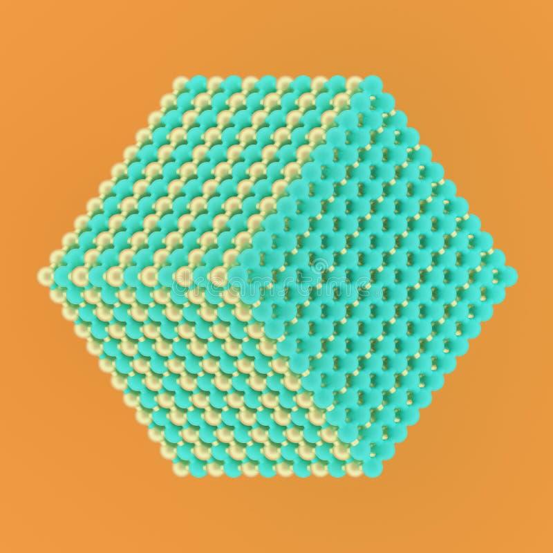 背景摘要真正几何,分子样式concepture连结了设计的,图表资源球形 3d?? 向量例证