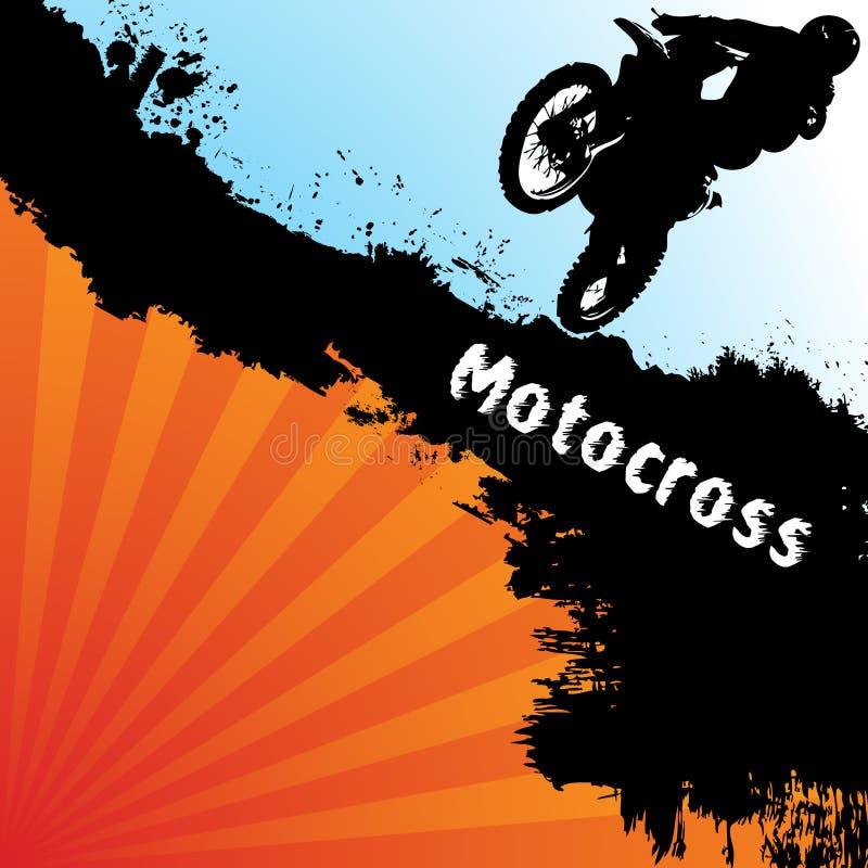 背景摩托车越野赛向量 免版税库存图片
