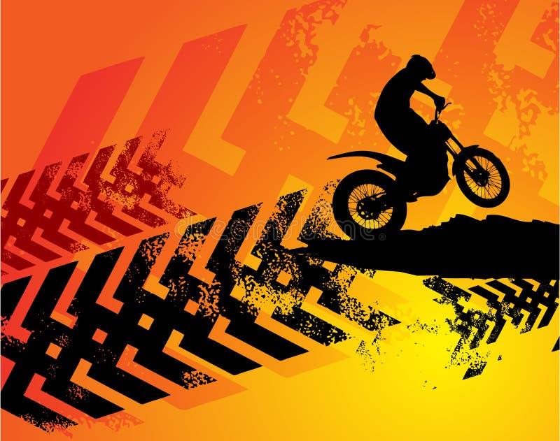 背景摩托车越野赛 向量例证