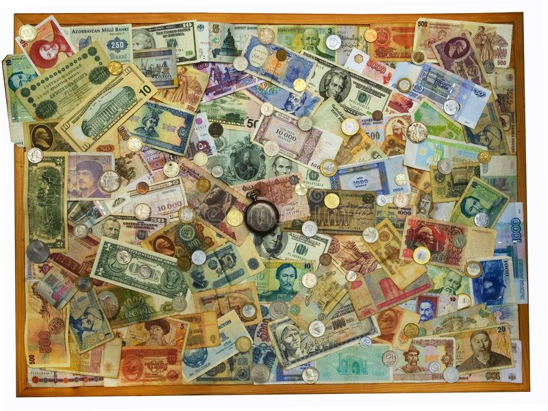 背景收集货币 免版税库存图片