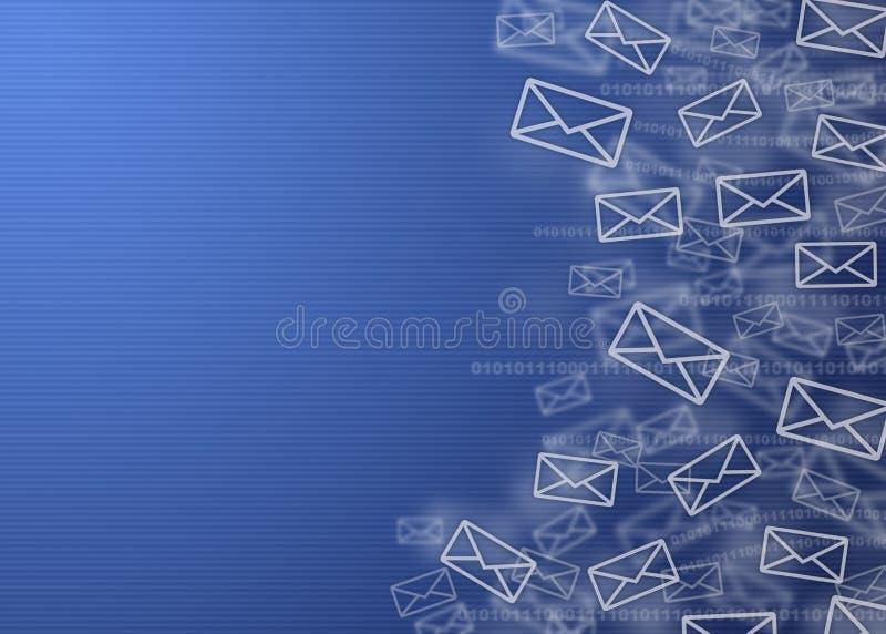 背景数字式邮件 库存例证
