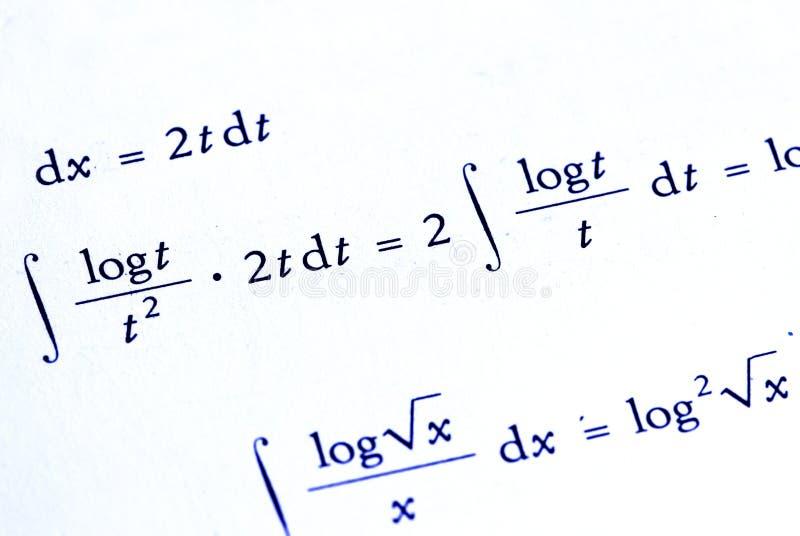 背景数学 库存照片