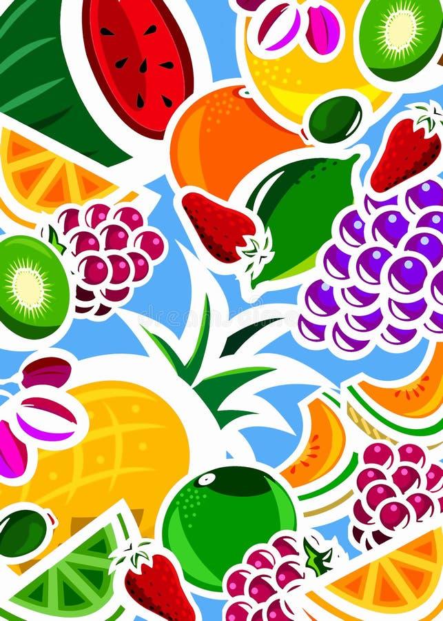 背景新鲜水果 向量例证