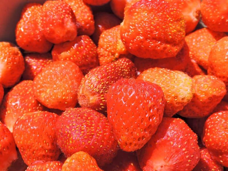 背景新鲜的莓 草莓 背景许多饺子的食物非常肉 复制空间 顶视图,健康食品早餐 图库摄影