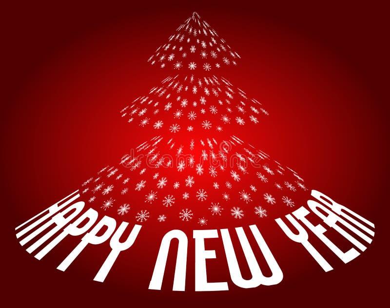 背景新年好 向量例证