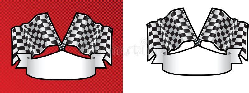 背景方格方格标志马达赛跑 向量例证