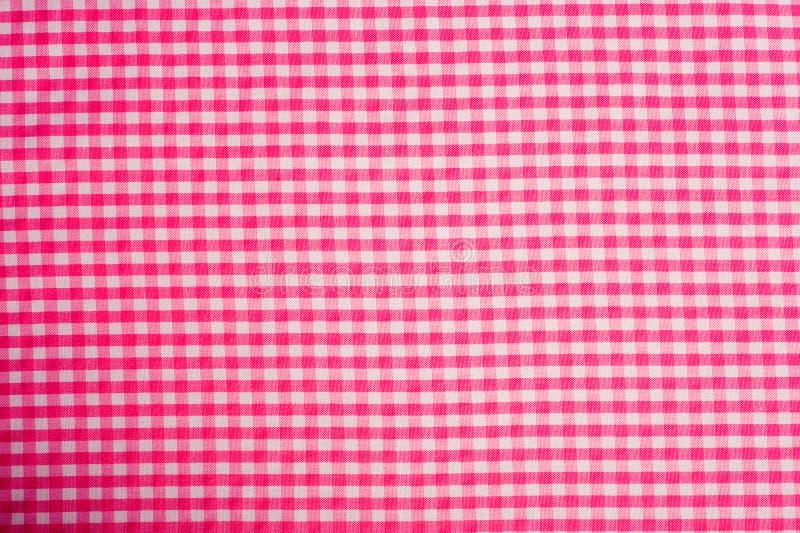 背景方格花布粉红色 库存图片