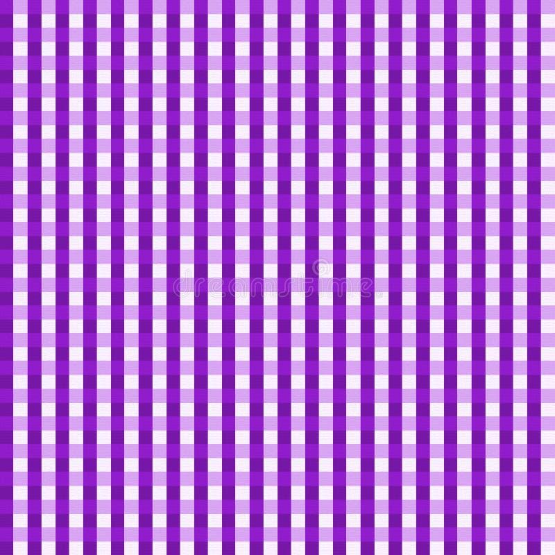 背景方格花布紫色无缝 向量例证