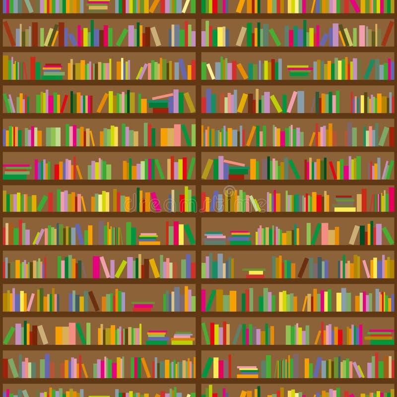 背景无缝书架的模式 皇族释放例证
