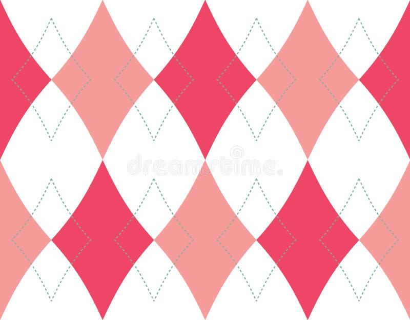 背景无缝模式的菱形 库存例证