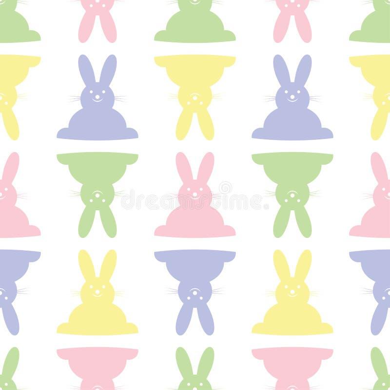 背景无缝的例证-复活节兔子 库存例证