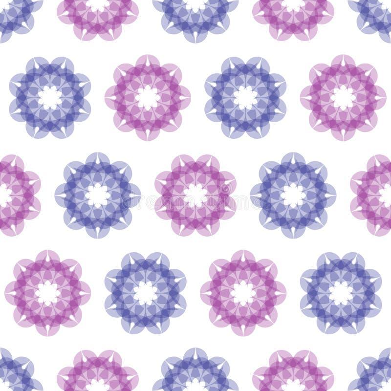 背景无缝的例证-色的花 库存例证