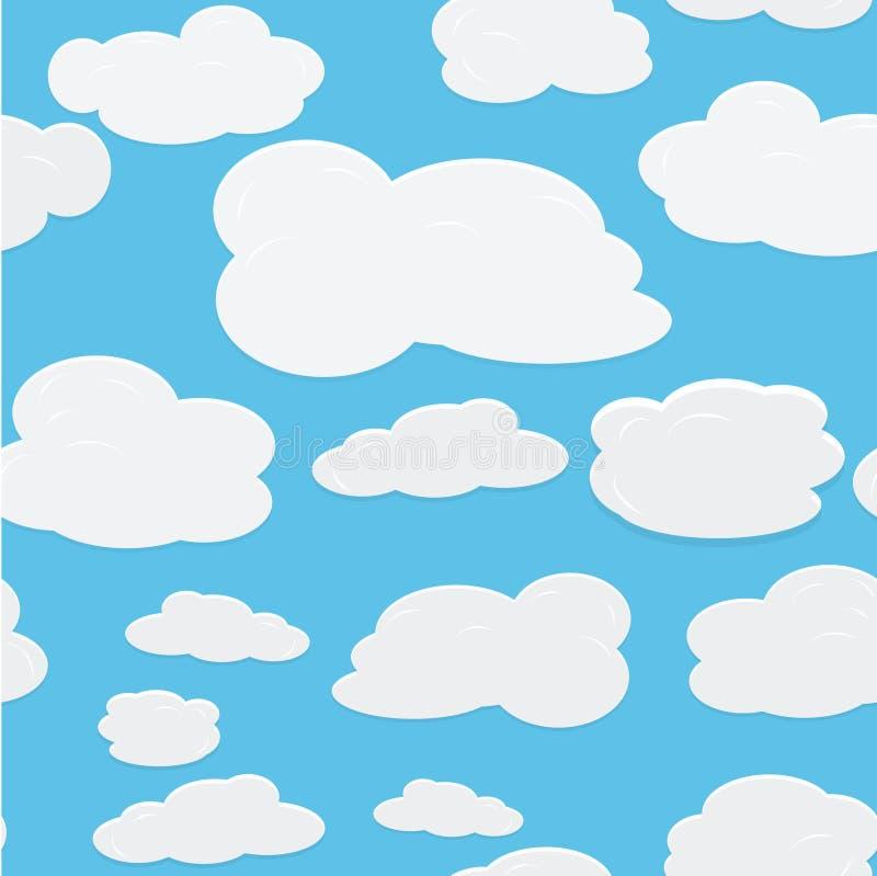 背景无缝的天空向量 向量例证