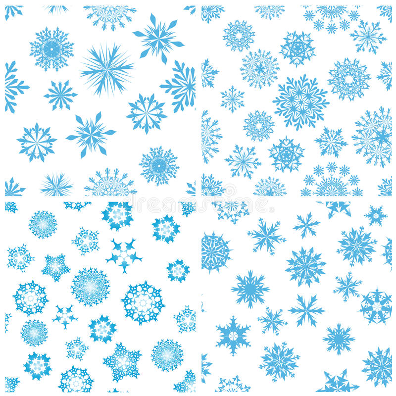背景无缝的雪花 向量例证