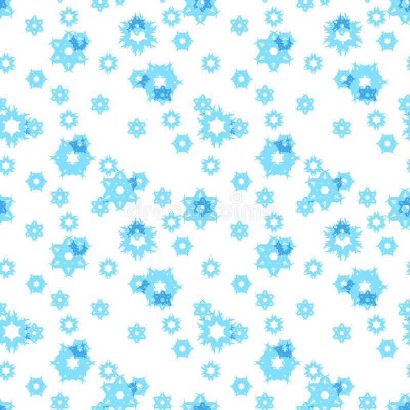 背景无缝的雪花 库存例证