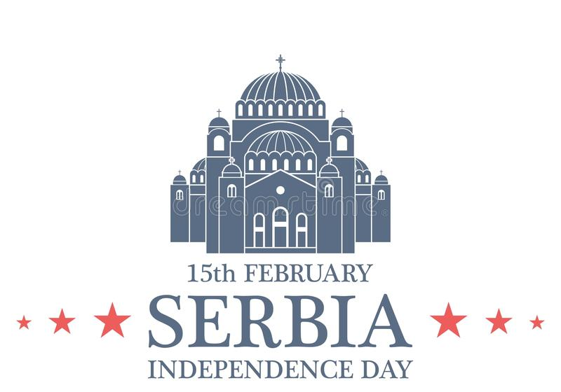 背景日减速火箭grunge的独立 塞尔维亚 向量例证