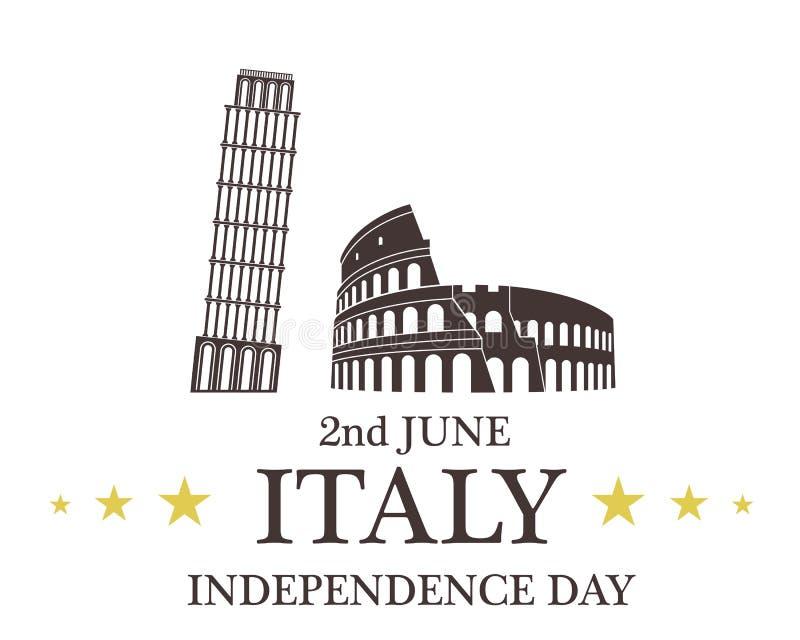 背景日减速火箭grunge的独立 意大利 向量例证
