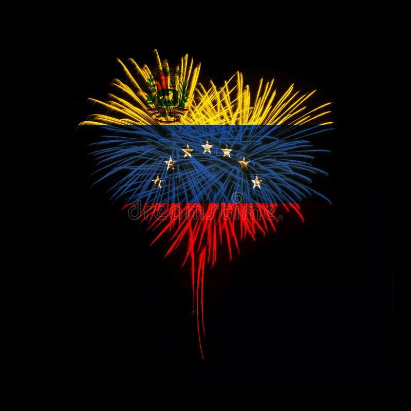 背景日减速火箭grunge的独立 欢迎光临委内瑞拉 免版税库存图片