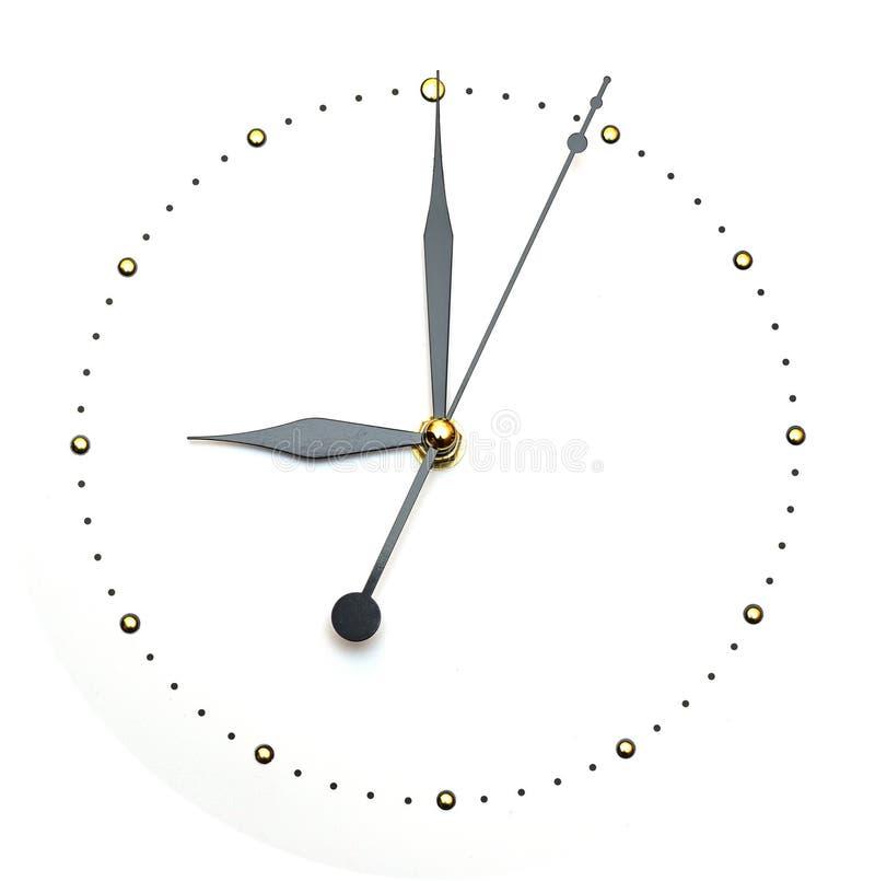 背景时钟概念见面时间白色 免版税库存图片