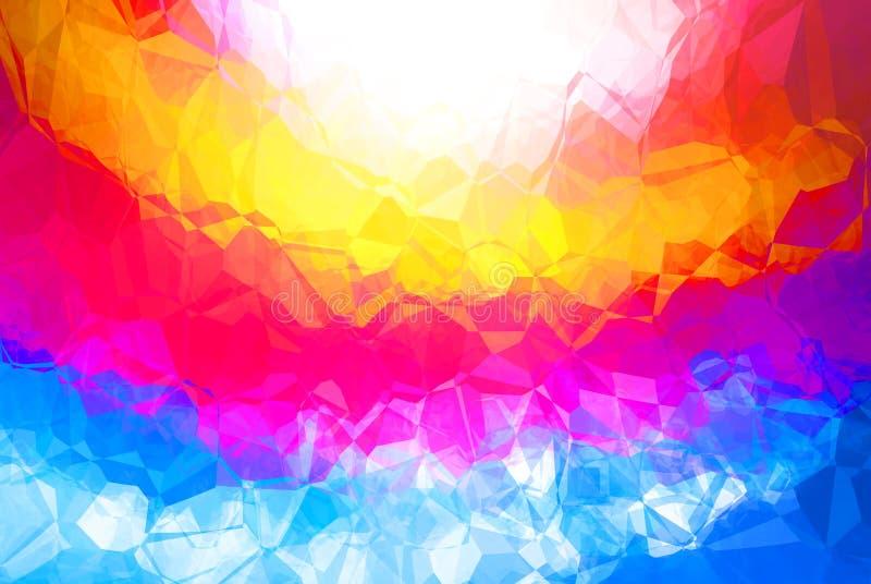 背景明亮多色 向量例证