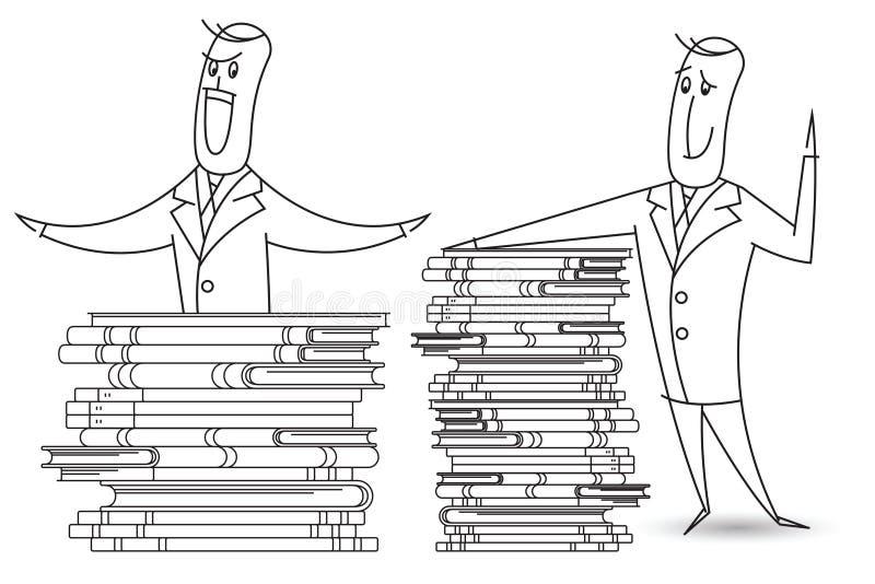 背景明亮的例证桔子股票 一个人命名了鲍伯和堆书 皇族释放例证