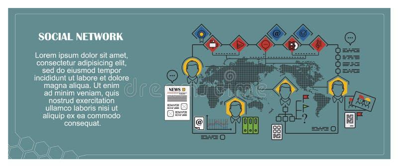 背景明亮的例证桔子股票 平infographic 3d网络照片回报了社交 皇族释放例证