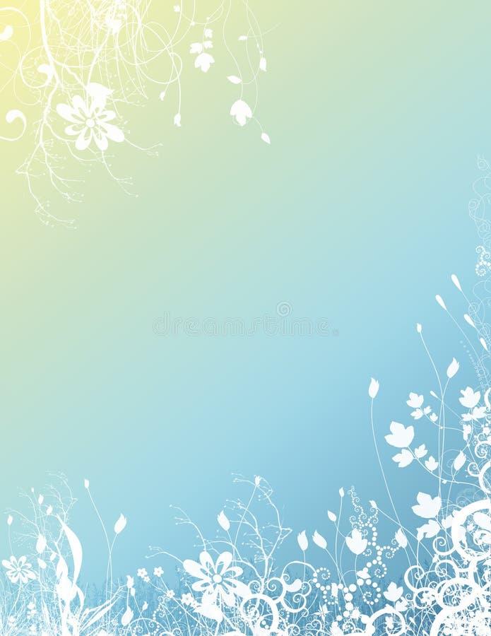 背景明亮花卉 库存例证