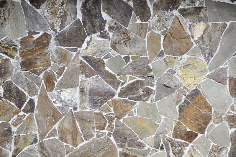 背景是可能向纹理使用的墙壁扔石头 免版税图库摄影