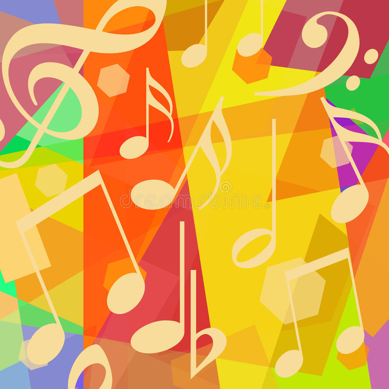 背景是能使用的不同的例证音乐目的 库存例证