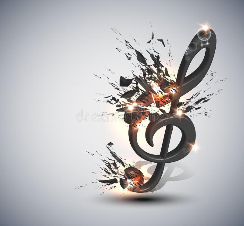 背景曲调音乐附注 向量例证