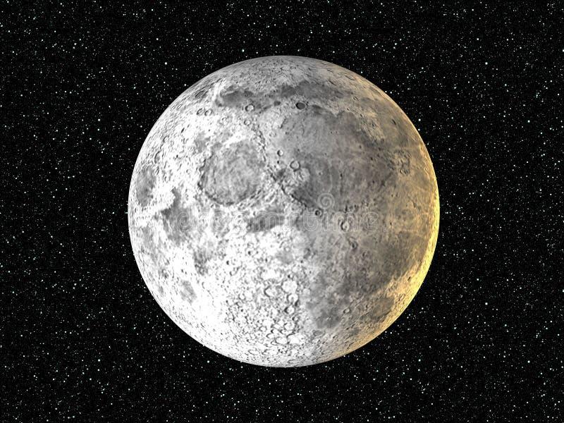 背景月亮星形 向量例证