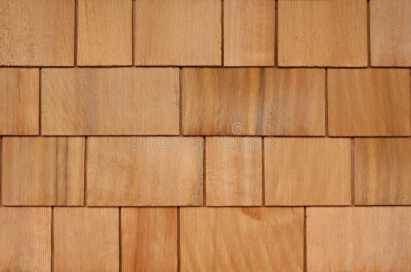 背景木瓦房屋板壁 免版税库存照片