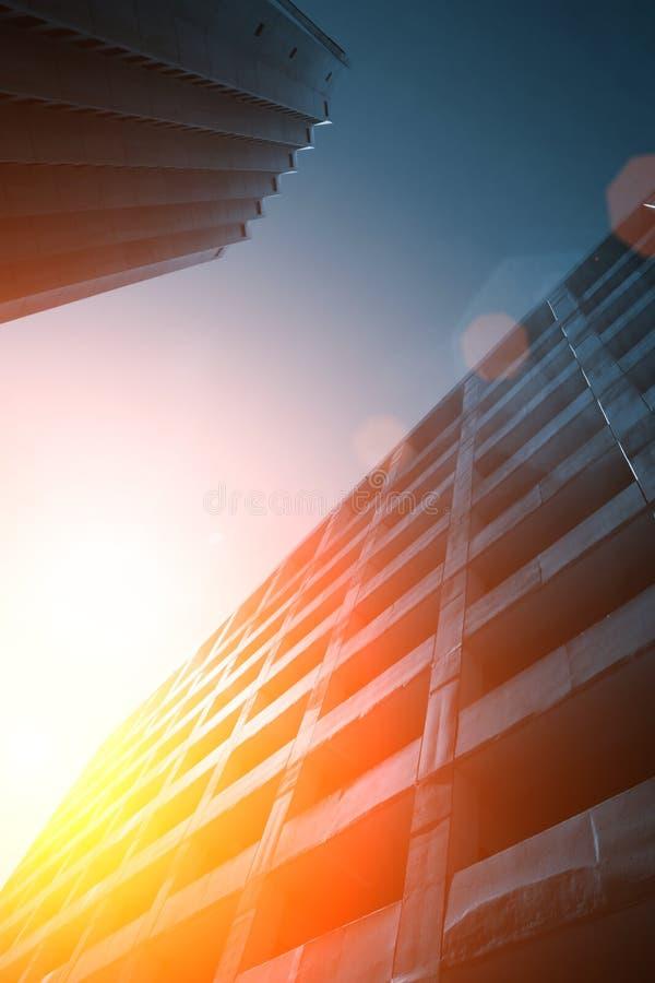 背景未来派都市 免版税库存照片