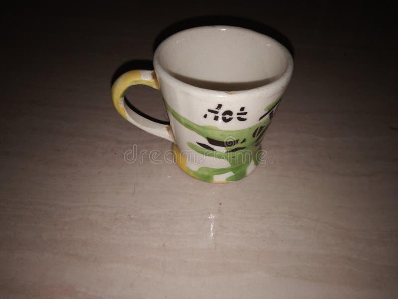 背景杯子查出的茶白色 图库摄影