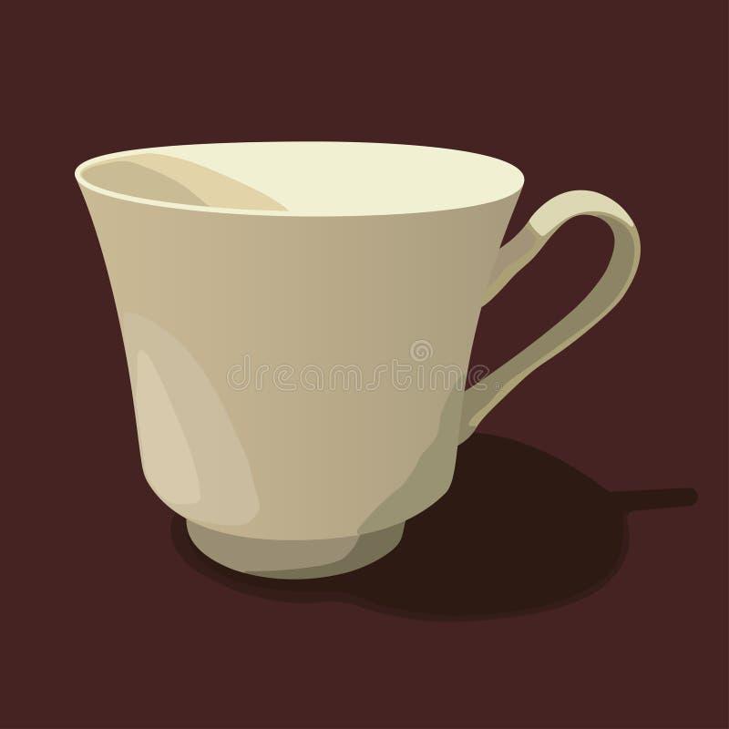 背景杯子查出的茶白色 库存图片